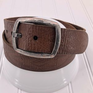 Lucky Brand Leather Belt Brown size 36